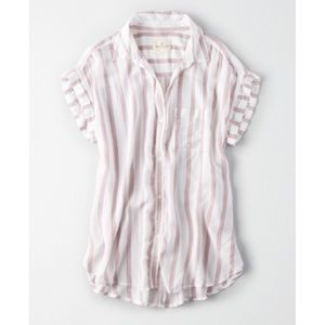 Aerie Striped Camp Button Down